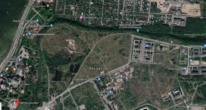 Район Лахекалда будет находиться в Паэвялья. Автор: Google Maps