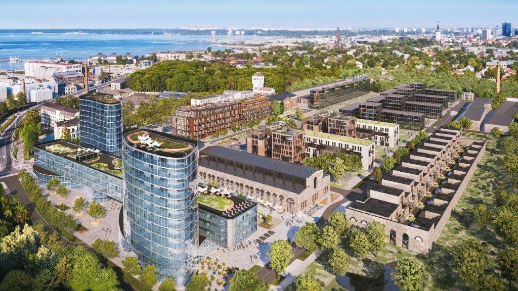 Территория бывшего завода «Вольта» обретет новый облик. Фото: Tallinna linnavalitsus.