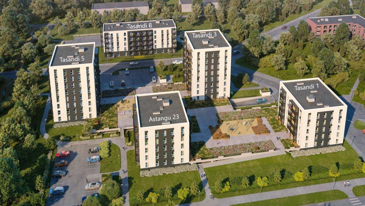 Новые дома в районе озера Харку в Хааберсти. Автор фото: Bonava.